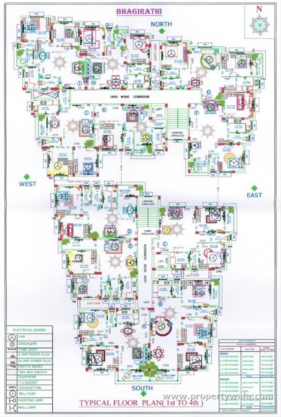 Bhagirathi Floor Plan - B